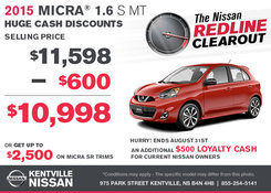 Nissan - Get the 2015 Nissan Micra now!
