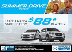 Mazda - Take advantage of Mazda's Summer Drive Sales Event!