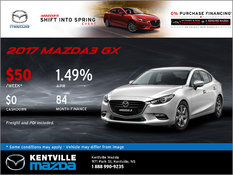 Mazda - Save on the All-New 2017 Mazda3 GX Today!