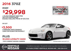 Nissan - Save Big on the 2016 Nissan 370Z Today!