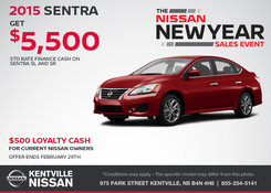 Nissan - Save on the All-New 2015 Nissan Sentra Today!