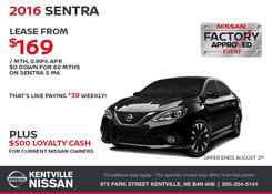 Nissan - Save on the All-New 2016 Nissan Sentra Today!