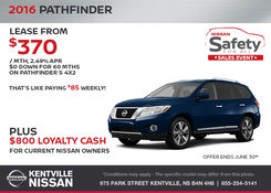 Nissan - Get the 2016 Nissan Pathfinder During the Sales Event!