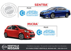 Nissan - Get a Set of Winter Tires at No Charge!