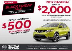 Nissan - Black Friday Sale - Save on the 2017 Nissan Qashqai Today!