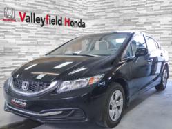 2013 Honda Civic Sdn LX AC BLUETOOTH GR. ÉLECTRIQUE BANC CHAUFFANT