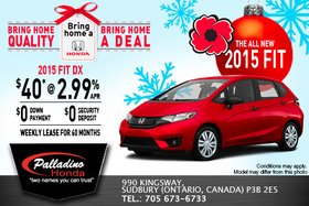 Bring Home an all-new 2015 Honda Fit today!