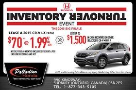 Lease the all-new 2015 Honda CR-V LX!