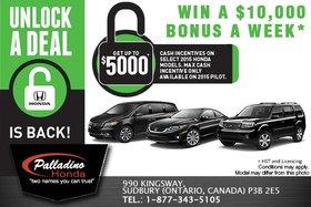 It's the Honda Unlock a Deal Sales Event!
