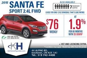 Get the 2015 Hyundai Santa Fe Sport!
