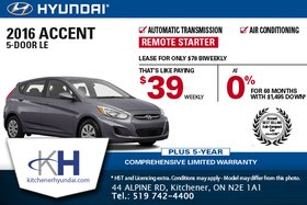 Save on the 2016 Hyundai Accent Today!