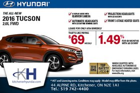 Save on the All-New 2016 Hyundai Tucson!
