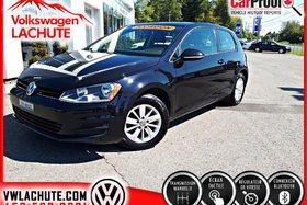 Volkswagen Golf TRENDLINE + 3 PORTES + DÉMARREUR + 2015
