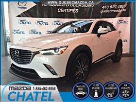Mazda CX-3 GT AWD (AUTO A/C) 2016 **GARANTIE PROLONGÉE MAZDA INCLUSE**
