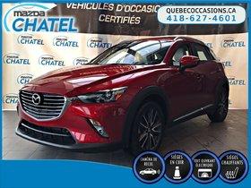 Mazda CX-3 GT AWD - CUIR - TOIT OUVRANT- BOSE 2016 **GARANTIE COMPLETE MAZDA JUSQU'EN SEPTEMBRE 2019**