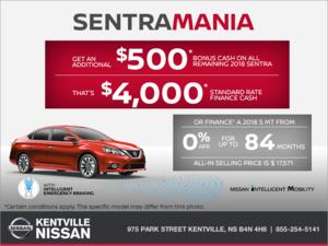 Nissan - It's Sentra Mania at Nissan!