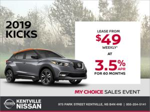 Nissan - Get the 2019 Nissan Kicks Today!