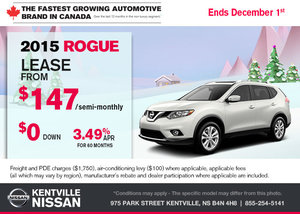 Save on the all-new 2015 Nissan Rogue today!