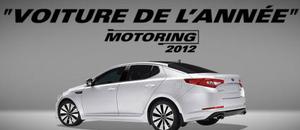 Optima, voiture de l'année par motoring 2012