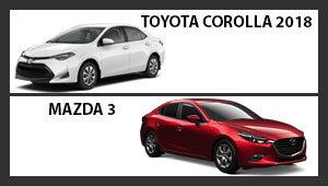 Toyota Corolla 2018 versus Mazda3