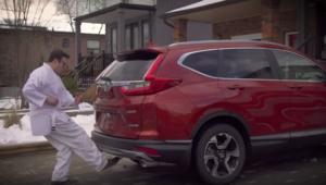 Le hayon électrique du Honda CR V 2017