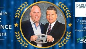 Récipiendaire du prix d'excellence du président