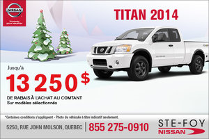 13250$ en rabais sur le Nissan Titan 2014