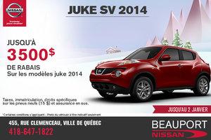 Nissan Juke 2014 disponible avec 3500$ de rabais