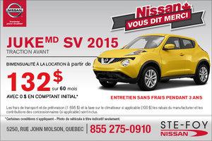 Nissan Juke 2015 en location à 132$ en bimensualité