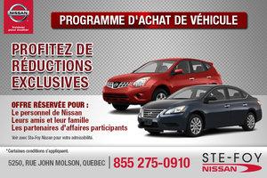 Programme d'achat de véhicule pour le personnel et les amis!