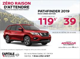 Louez le Nissan Pathfinder 2019 dès aujourd'hui! chez Capitale Nissan