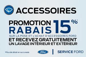 Promotion rabais 15% - Accessoires