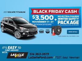 2017 Escape Titanium BLACK FRIDAY CASH