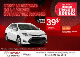 La vente étiquettes rouges chez Toyota