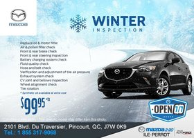 Get Your Winter Inspection at Mazda 2-20!