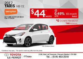 The Small 2017 Yaris HB at a Low Price!