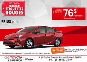Louez le Toyota Prius 2017 dès maintenant!