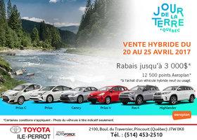 Vente hybride chez Toyota Ile-Perrot