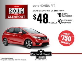 Lease the 2017 Honda Fit DX Today!
