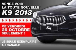EXCLUSIF ce vendredi 26 octobre seulement: l'unique Kia K9 chez Méga Kia de Sherbrooke