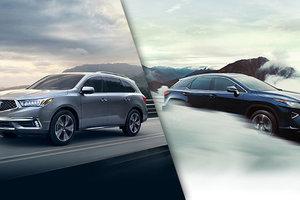 Acura MDX d'occasion vs Lexus RX d'occasion chez Spinelli Lexus à Montréal