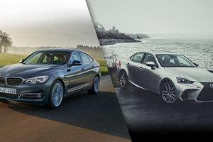 BMW Série 3 d'occasion vs Lexus IS d'occasion à Montréal (près de Laval)