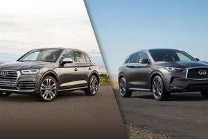Audi Q5 2018 vs Infiniti QX50 2019 à Montréal