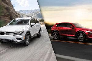 2018 Volkswagen Tiguan vs. 2018 Mazda CX-5 in Lachine