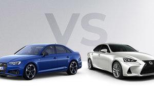 Audi A4 2019 vs Lexus IS 300 2019 à Montréal