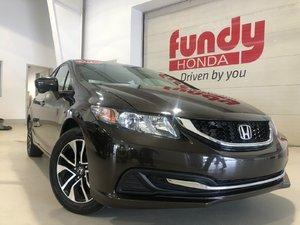 2014 Honda Civic Sedan EX w/sunroof, alloys, LOW KM! ONE LOCAL OWNER