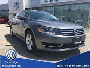 2014 Volkswagen Passat Comfortline 1.8T With Financing From 0.9%