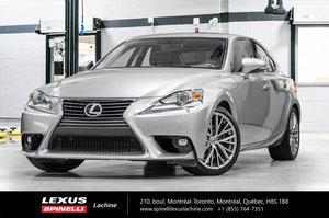 Lexus IS 250 PREMIUM AWD; CUIR TOIT CAMERA 2015 VÉHICULE CERTIFIÉ LEXUS