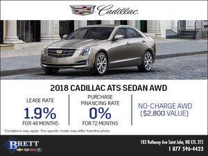 Save on the 2018 Cadillac ATS Sedan