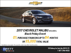Save this Month on the 2017 Chevrolet Malibu!